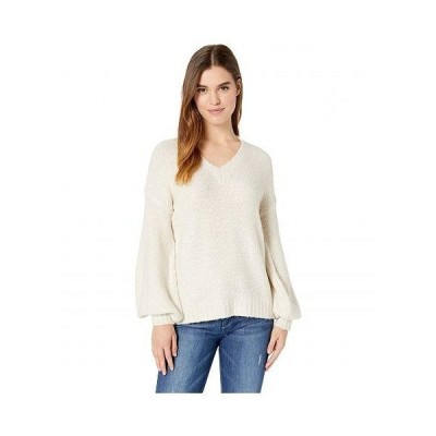 kensie ケンジー レディース 女性用 ファッション セーター Fuzzy Boucle Sweater KSDK5922 - Antique Cream