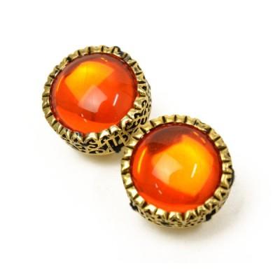 rada【ラダ】イヤリング  R7063SP Orange クリスタル オレンジ