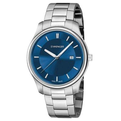 ウェンガー 腕時計 Wenger メンズ Watch City シティ Classic クラシック Blue Dial Stainless Steel Bracelet 01.1441.117