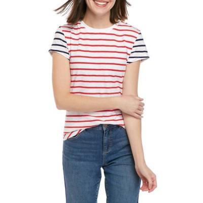 クラウン&アイビー レディース Tシャツ トップス Women's Short Sleeve Crew Neck T-Shirt
