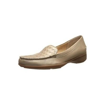フラッツ&オックスフォード シューズ 靴 Trotters Trotters 2250 レディース Zane ゴールド レザー Woven ローファー シューズ 6 Narrow (AA,N) BHFO