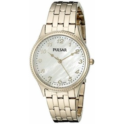 腕時計 パルサー SEIKO Pulsar Women's PH8142 Dress Analog Display Japanese Quartz Gold Watch
