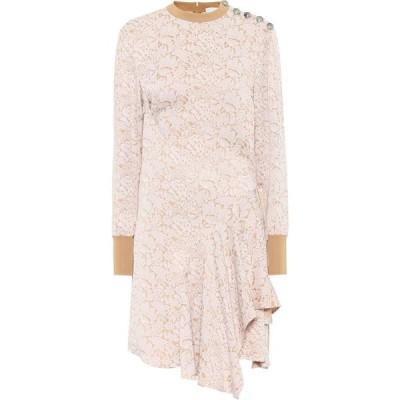 クロエ Chloe レディース ワンピース ワンピース・ドレス asymmetric jacquard dress White/Beige