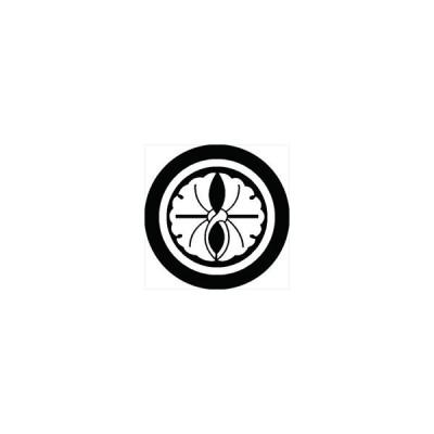 家紋シール 丸に抱き銀杏紋 直径10cm 丸型 白紋 2枚セット KS10M-0787W