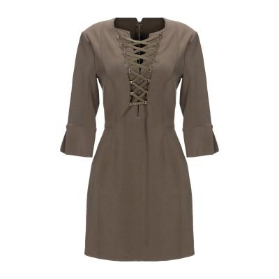 ELISABETTA FRANCHI ミニワンピース&ドレス ミリタリーグリーン 44 レーヨン 68% / ナイロン 21% / ポリウレタン 1