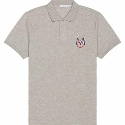 モンクレール Moncler メンズ ポロシャツ トップス Polo Grey
