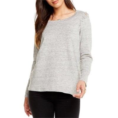 チェイサー レディース Tシャツ トップス Linen Jersey Lace-Up Shirt - Women's