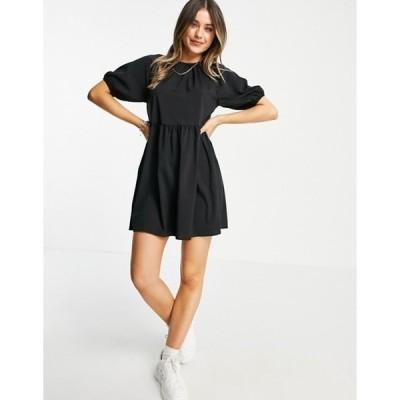 アーバンブリス レディース ワンピース トップス Urban Bliss smock dress in black