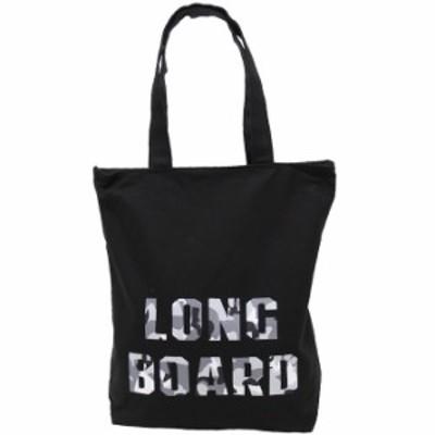 トートバッグ メンズ キャンバス 帆布 タテ型 A4サイズ対応 LONG BOARD ブラック 全国送料無料 ネコポス発送限定 exas