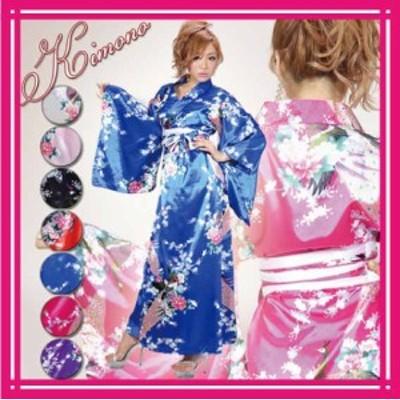 着物 ドレス 花魁 コスプレ よさこい 衣装 メール便対応商品 Jewel ジュエル 花魁ドレス 着物ドレス 花鳥柄 定番