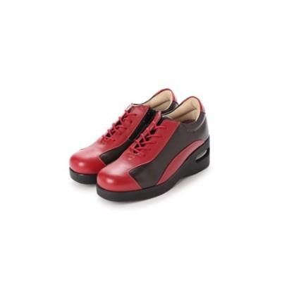 PIERRE RICCI ピエールリッチ やわらか山羊革4Eエアーソール付き レディースシューズ レッド(婦人靴) 25.0cm