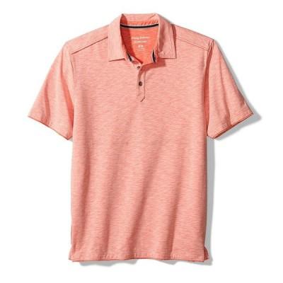 トッミーバハマ メンズ ポロシャツ トップス Fray Day Harbor Short-Sleeve Polo Shirt Ember Red