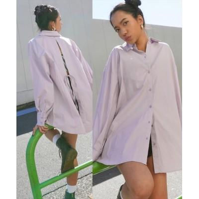【アナップ】 バックデザインシャツ レディース パープル onesize ANAP