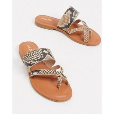 アルド ALDO レディース サンダル・ミュール シューズ・靴 Aldo Toe Loop Sandals In Tan ナチュラル