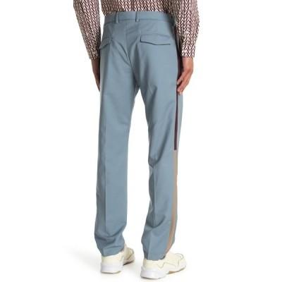 ヴァレンティノ メンズ カジュアルパンツ ボトムス Straight Leg Stripe Trouser Pants STONE