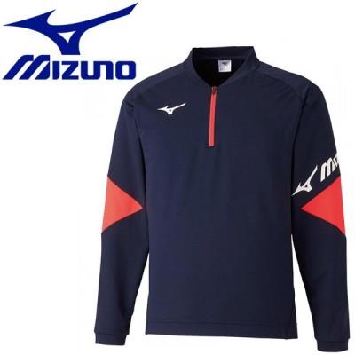 ミズノ テニス/ソフトテニス ライトスウェットシャツ(ハーフジップ) ユニセックス  62JC051014