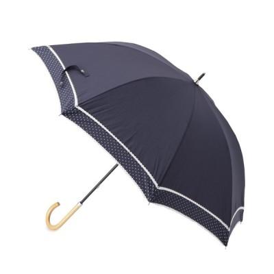 SOUP / because ピンドット柄切り替え晴雨兼用長傘 WOMEN ファッション雑貨 > 長傘