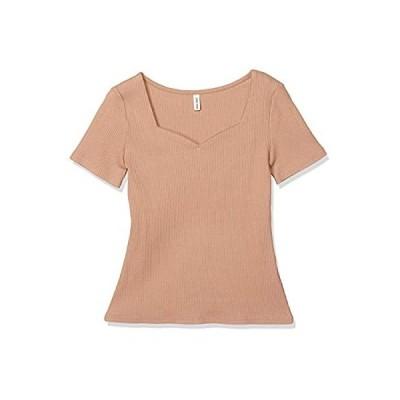 [ロイヤルパーティー] トップス ハートネック半袖Tシャツ レディース ピンク 日本 F (FREE サイズ)