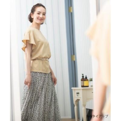 【洗える】ダブルプリーツ スカート