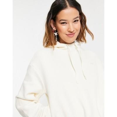 バンズ レディース シャツ トップス Vans Comfycush cropped hoodie in cream