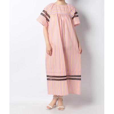 【アン レクレ】 配色ストライプワンピ-ス レディース ピンク 2 en recre