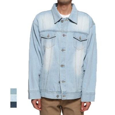 ジャケット デニムジャケット Gジャン ジージャン ビッグシルエット オーバーサイズ 綿100% 長袖 コットン アウター メンズ