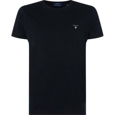 ガント Gant メンズ Tシャツ ロゴTシャツ トップス Crew Logo T Shirt Black