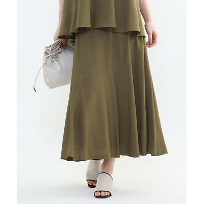 <INDIVI(Women)/インディヴィ> 切替マキシフレアスカート カーキ027【三越伊勢丹/公式】