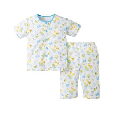 綿100%前開き天竺半袖パジャマ(男の子・女の子 子供服) キッズパジャマ, Kids' Pajamas