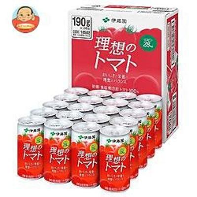 送料無料  伊藤園  理想のトマト(CS缶)  190g缶×20本入