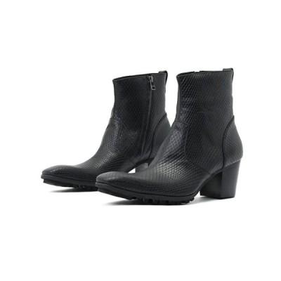ブーツ 「YOSUKE/ヨースケ」メンズヒールアップショートブーツ