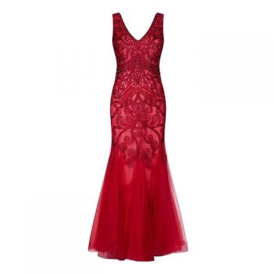 アリエラ ロンドン Ariella London レディース パーティードレス ワンピース・ドレス Ariella Dallas Tapework Fishtail Gown RASPBERRY