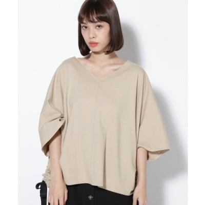 tシャツ Tシャツ (P.P)裾リボンミニ裏毛カットソー