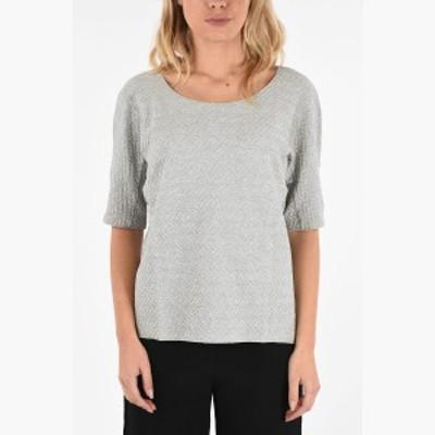 ARMANI COLLEZIONI/アルマーニ コレツィオーニ Tシャツ Gray レディース 秋冬2019 COLLEZIONI Embroidered T-shirt dk