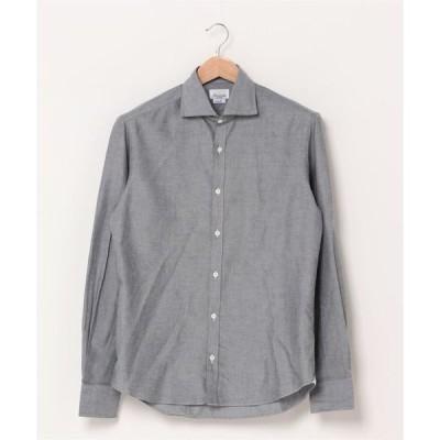シャツ ブラウス GIANNETTO / 別注 グレー オックスフォード ワイドカラー シャツ