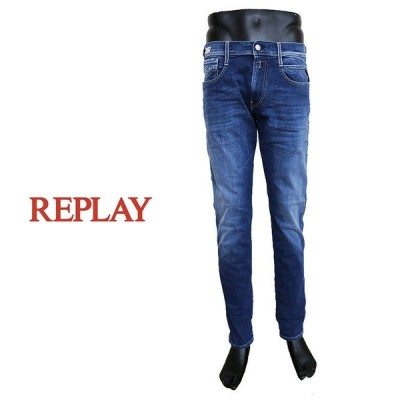 【REPLAY】リプレイ ANBASS ハイパーフレックス RE-USED デニム 11.5oz ジーンズ DENIM テーパードシルエット ハイパーストレッチ メンズ