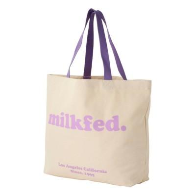 MILKFED. / COOPER LOGO BIG TOTE BAG LtPURPLE WOMEN バッグ > トートバッグ