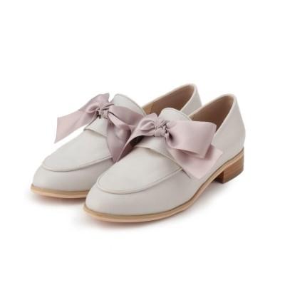 (Couture Brooch/クチュール ブローチ)ビッグリボンローファー/レディース オフホワイト(003)