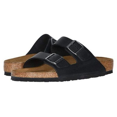ビルケンシュトック Arizona - Oiled Leather (Unisex) メンズ サンダル Black Oiled Leather