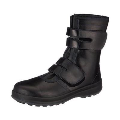 シモン 安全靴 長編上 JIS規格 耐滑 快適 革製 高級 8538黒