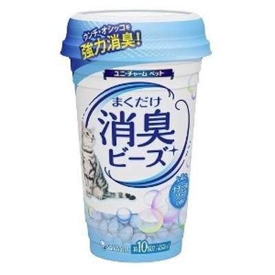 猫トイレまくだけ 香り広がる消臭ビーズ ナチュラルソープの香り(450ml)