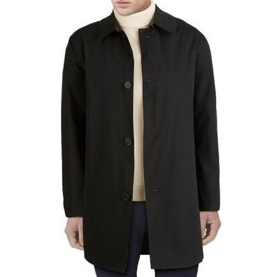 コールハーン メンズ ジャケット・ブルゾン アウター Welt-Pocket Collared Button Front Rain Coat