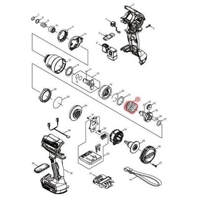 マキタ 部品 コンプレッションスプリング24 232459-5 図番022 TD171D/TD161D用