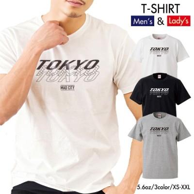 ストリート大人気 ブランド Tシャツ TOKYO 東京 都会 大都市 おしゃれ ストリート デザイン クルーネック ユニセックス 男女共用