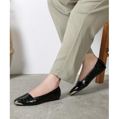 Shoes in Closet -シュークロ- / メタルトゥキャップ フラットパンプス 7933 WOMEN シューズ > パンプス