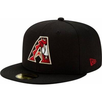 ニューエラ メンズ 帽子 アクセサリー New Era Men's Arizona Diamondbacks 59Fifty Black Batting Practice Fitted Hat