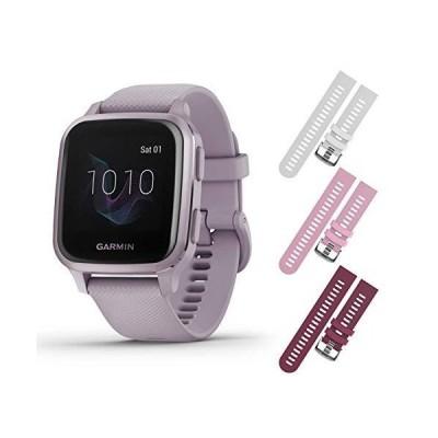 【並行輸入品】Garmin Venu Sq GPS Fitness Smartwatch and Included Wearable4U 3 Stra