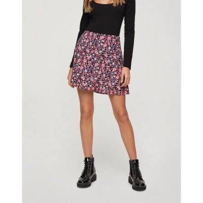 ミスセルフフリッジ レディース スカート ボトムス Miss Selfridge mini skirt in rose floral Black
