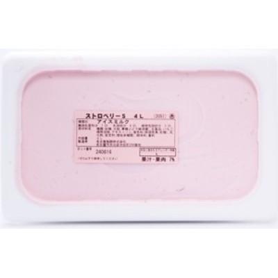 [冷凍] めいらく 業務用アイス ストロベリー 4L