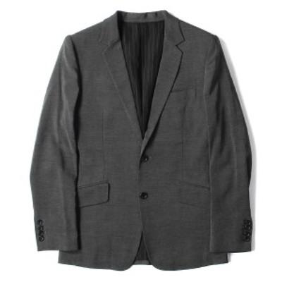 SHELLAC シェラック ジャケット ノッチドラペル ウール 段返り 2B テーラードジャケット 日本製 グレー 46 【メンズ】【美品】【中古】【
